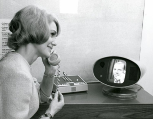 Video Picture Phone at the 1964 World's Fair - https://blog.telegeography.com/before-skype-and-facetime-when-the-picturephone-was-the-future